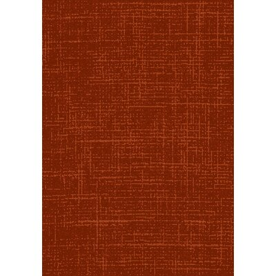 Flair Red Area Rug Rug Size: 53 x 77
