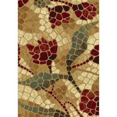 Majestic Gold Area Rug Rug Size: Runner 22 x 77