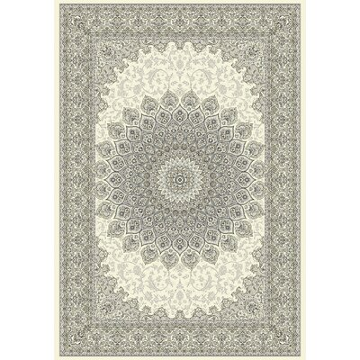Ancient Garden Cream/Gray Area Rug Rug Size: 92 x 1210
