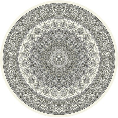 Attell Cream/Gray Area Rug Rug Size: Round 53