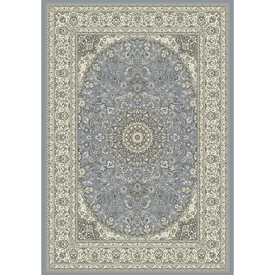 Attell Steel Blue/Cream Area Rug Rug Size: Rectangle 53 x 77