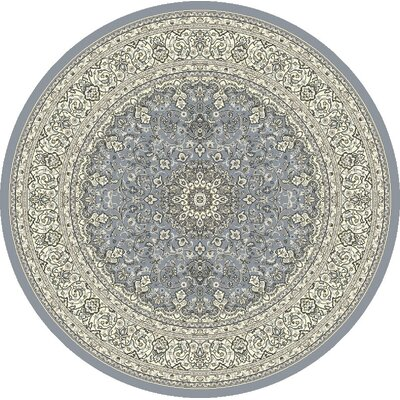 Attell Steel Blue/Cream Area Rug Rug Size: Round 710