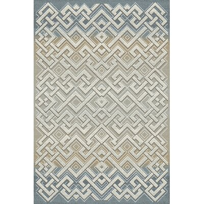 Royal Treasure Gray/Beige Area Rug Rug Size: Rectangle 53 x 77