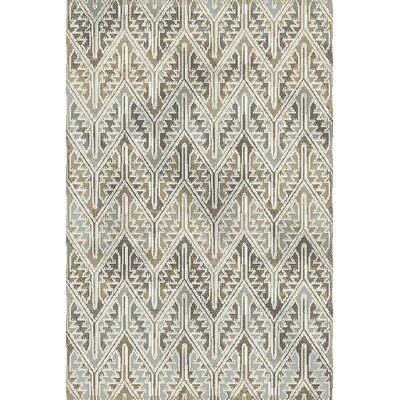 Royal Treasure Gray/Beige Area Rug Rug Size: Rectangle 36 x 56