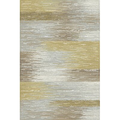 Royal Treasure Gray & Yellow Area Rug Rug Size: Runner 22 x 77