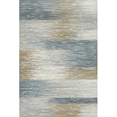 Albury Gray/Blue Area Rug Rug Size: Rectangle 53 x 77