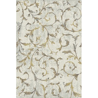 Royal Treasure Cream/Yellow Area Rug Rug Size: Rectangle 36 x 56