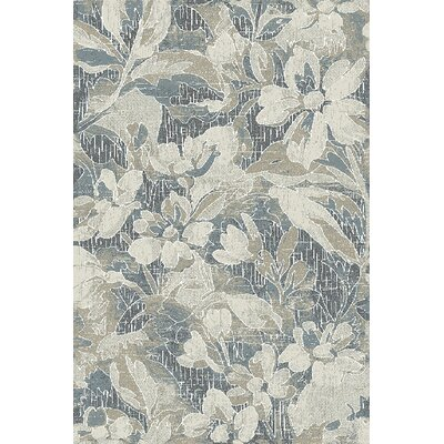 Royal Treasure Gray/Blue Area Rug Rug Size: Rectangle 36 x 56
