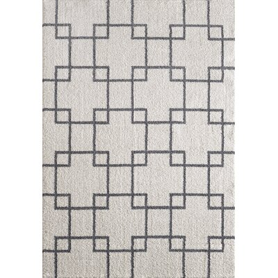 Silky White Area Rug Rug Size: Rectangle 67 x 96