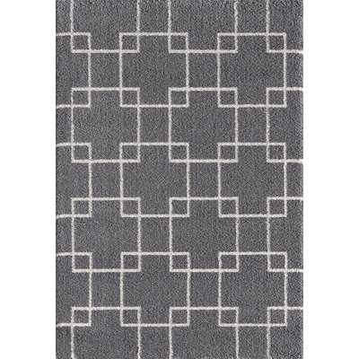 Silky Gray Area Rug Rug Size: Rectangle 92 x 1210