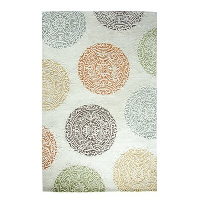 Allure Ivory Area Rug Rug Size: Rectangle 2' x 4'