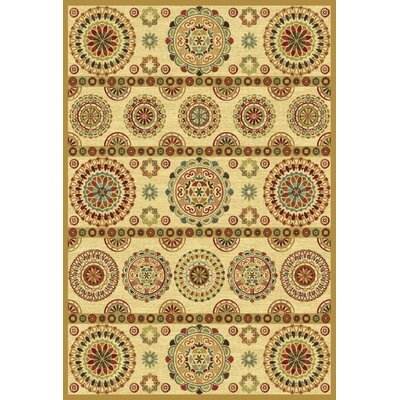 Heritage Beige Area Rug Rug Size: Rectangle 67 x 96