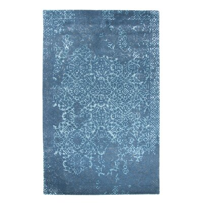 Allure Blue Area Rug Rug Size: Rectangle 4 x 6