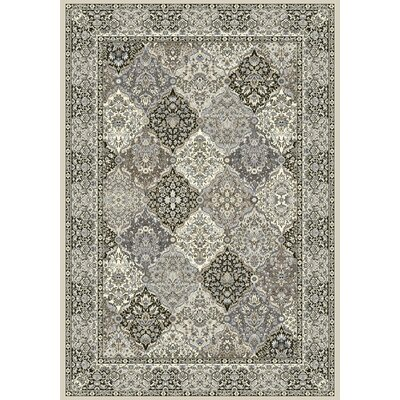 Ancient Garden Gray Area Rug Rug Size: 67 x 96