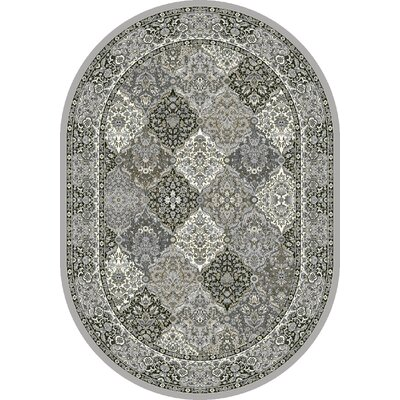 Attell Faux Leather Multi-Colored Area Rug Rug Size: Oval 67 x 96