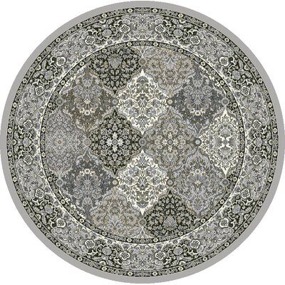 Attell Gray Area Rug Rug Size: Round 710