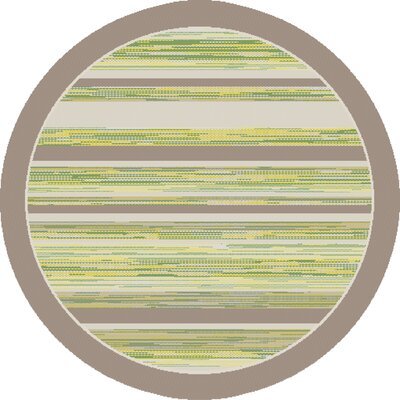 Piazza Green Indoor/Outdoor Area Rug Rug Size: Round 53