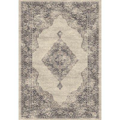 Farahan Gray/Cream Area Rug Rug Size: 2 x 311