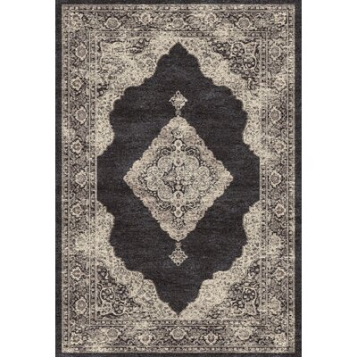 Farahan Black/Cream Area Rug Rug Size: 2' x 3'11
