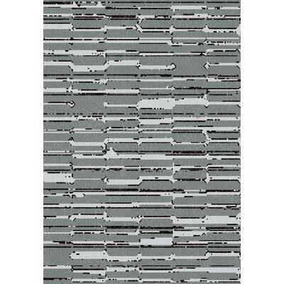 Flair Gray Area Rug Rug Size: 6'7