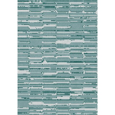 Flair Soft Blue Area Rug Rug Size: 67 x 96