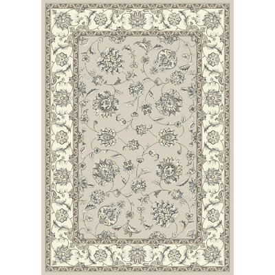 Ancient Garden Soft Gray/Cream Area Rug Rug Size: Rectangle 92 x 1210