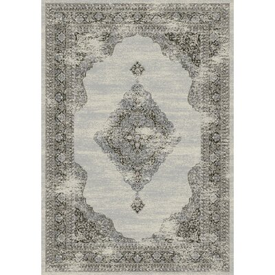 Ancient Garden Silver/Gray Area Rug Rug Size: 53 x 77