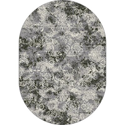 Ruby Gray Area Rug Rug Size: Oval 53 x 77