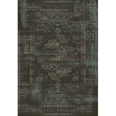 Utopia Antique Charcoal Area Rug Rug Size: Rectangle 53 x 77