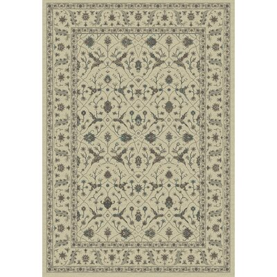 Utopia Cream Area Rug Rug Size: Rectangle 36 x 56