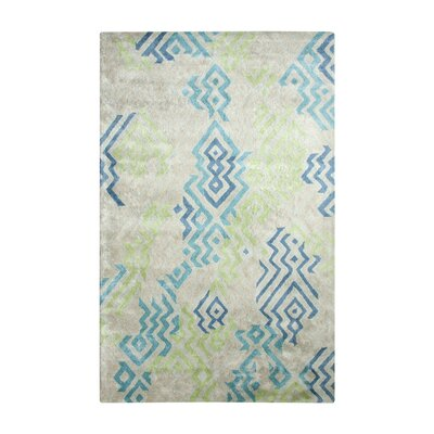 Vogue Cream/Blue Area Rug Rug Size: 2 x 4
