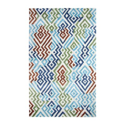 Vogue Turquoise Area Rug Rug Size: Rectangle 2 x 4