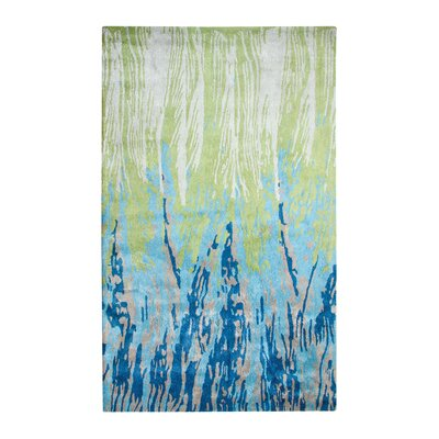 Vogue Hand-Woven Wool Blue/Green Area Rug Rug Size: Rectangle 2 x 4