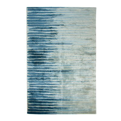 Vogue Hand-Woven Wool Blue/Gray Area Rug Rug Size: Rectangle 2 x 4