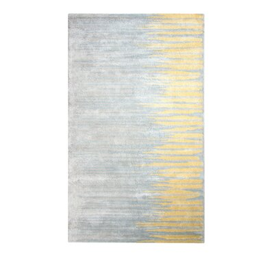 Vogue Gold/Gray Area Rug Rug Size: 2 x 4