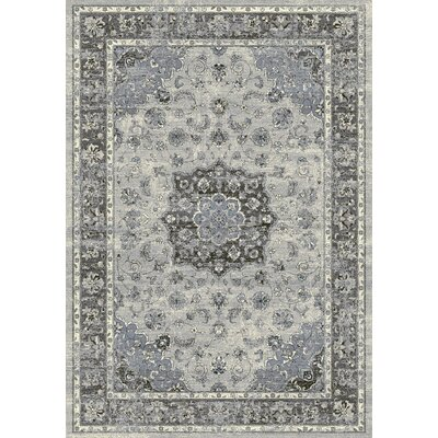 Attell Silver/Gray Area Rug Rug Size: Rectangle 53 x 77