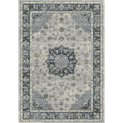 Attell Oriental Gray Area Rug Rug Size: Rectangle 53 x 77