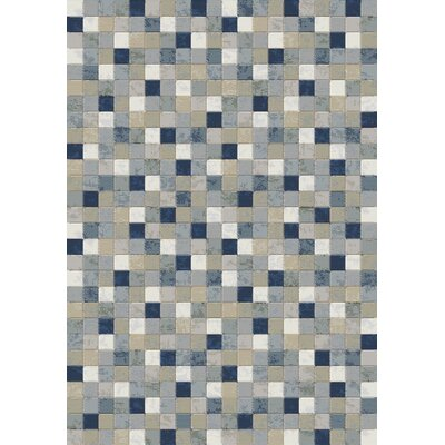 Eclipse Blue Area Rug Rug Size: 67 x 96