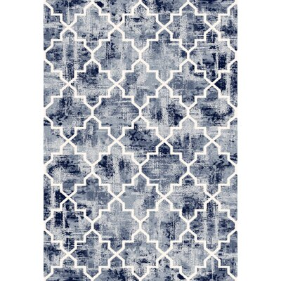 Mariah Durable Blue Area Rug Rug Size: Rectangle 710 x 112