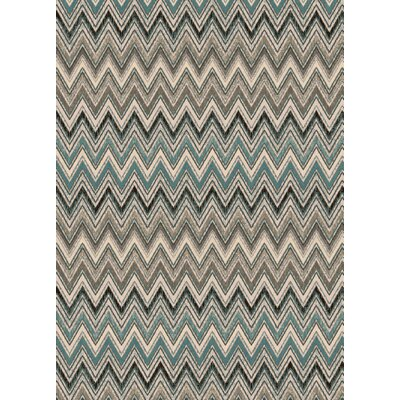 Infinity Beige/Blue Area Rug Rug Size: 2 x 311