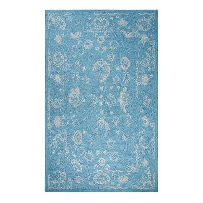 Montoya Hand-Woven Wool Turquoise Area Rug Rug Size: Rectangle 92 x 126