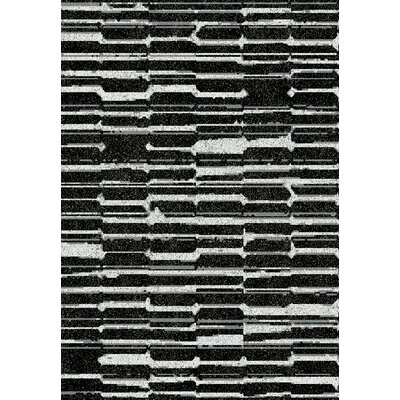 Flair Black Area Rug Rug Size: 2 x 35