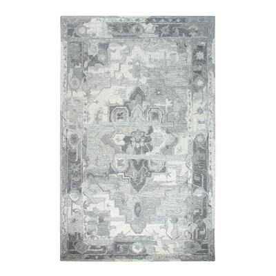 Avalon Gray Area Rug Rug Size: 92 x 126
