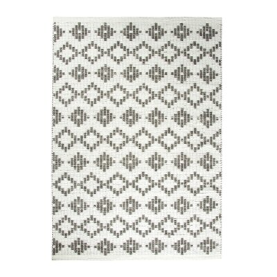 Topaz Ivory/Beige Hand Woven Area Rug Rug Size: 36 x 56
