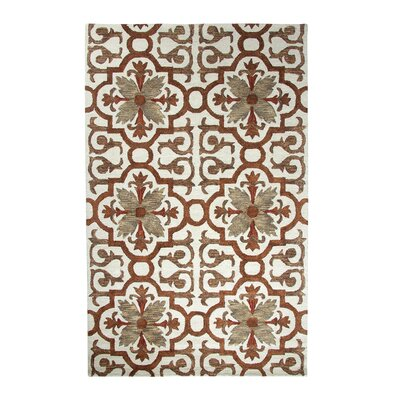 Casual Rust Area Rug Rug Size: Rectangle 36 x 56
