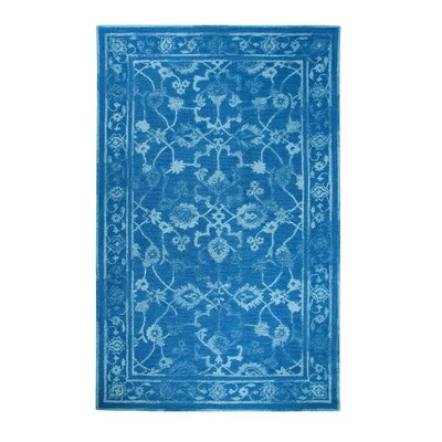 Avalon Dark Blue Area Rug Rug Size: 33 x 53