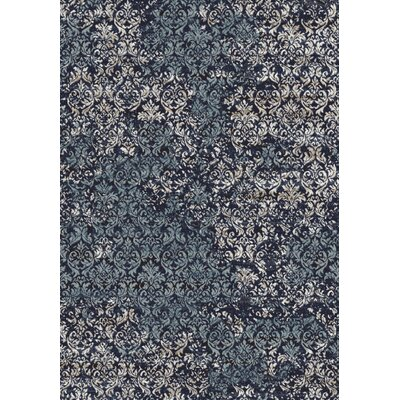Eclipse Dark Blue Area Rug Rug Size: 53 x 77