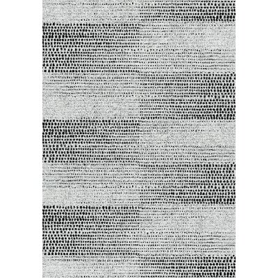 Flair Gray Area Rug Rug Size: 36 x 56