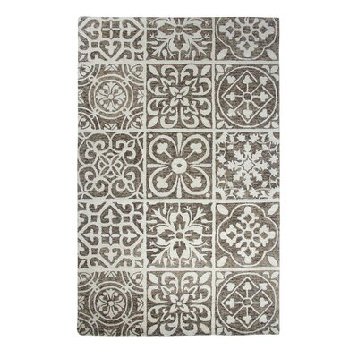 Casual Charcoal Area Rug Rug Size: Rectangle 36 x 56