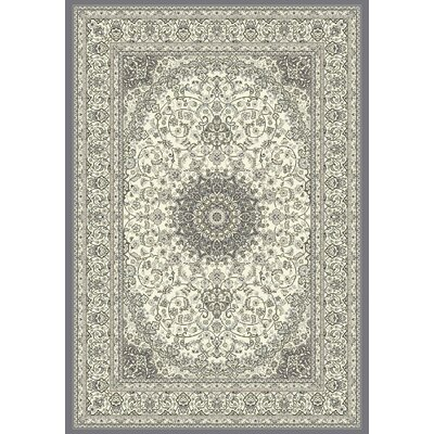 Attell Oriental Cream/Gray Area Rug Rug Size: Rectangle 53 x 77